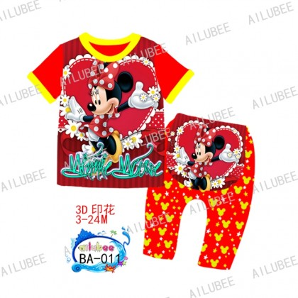 Minnie Ailubee Pyjamas (BA011) 3-6M