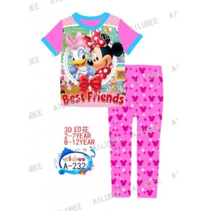 Minnie Best Friends Ailubee Pyjamas (A-232) 2-7y