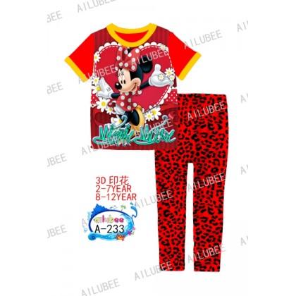 Minnie Ailubee Pyjamas (A-233) 4 , 7y