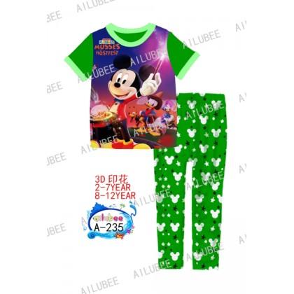 Mickey Ailubee Pyjamas (A-235) 8 9 10 12y