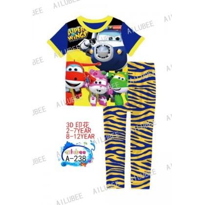 Super Wings Ailubee Pyjamas (A-238) 8-12y