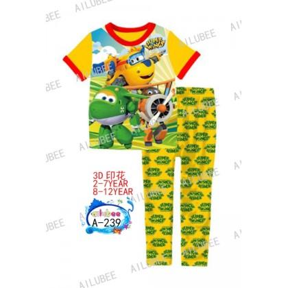 Super Wings Ailubee Pyjamas (A-239) 2 3y