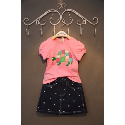 Girl Set 2pcs Top+Skirt  Jean (210353)