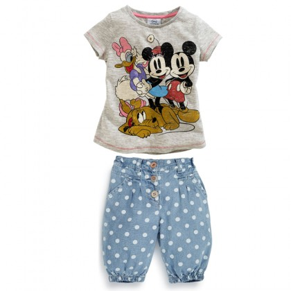 Girl Mickey/Minnie Set 2pcs Top+Pant Jean (210686)