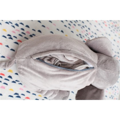 Cute Elephant Plush Toy Pillow + Blanket (READY/PREORDER)
