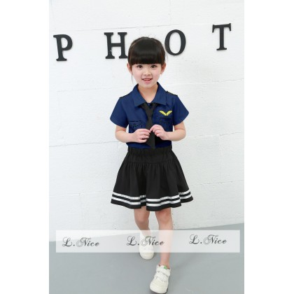 [READY STOCK] LNICE Ms Pilot Girl Top+Skirt Set