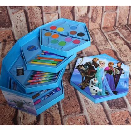 46 pieces CARTOON COLOR ART DRAWING GIFTSET -Disney HELLO KITTY, CARS MCQUEEN, MICKEY, FROZEN, BARBIE, PRINCESS, POOH, SPONGEBOB, SPIDERMAN