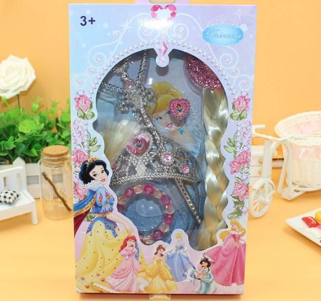 Ready Stock Frozen Elsa Princess Crown Set 5in1