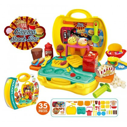 [READY STOCK] EDUCATION TOYS - Kids Playhouse Suitcase - DINO WORLD, CAKE&PARTY, CINEMA SNACK&BAR