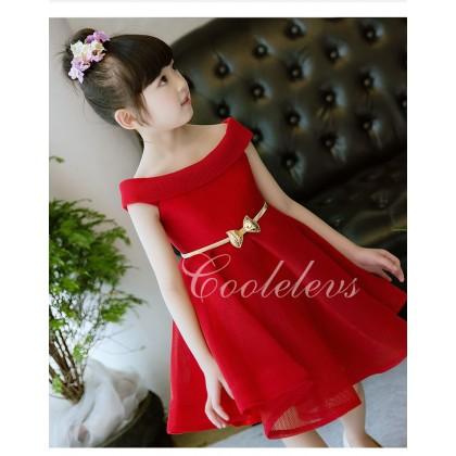 [READY STOCK] Elegance Girl Dresses / gown +Belt