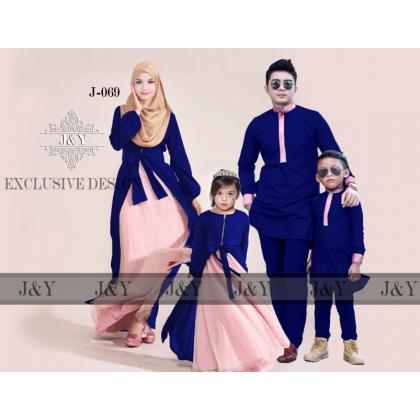 BOY 11Y [READY STOCK] J&Y Raya Family Set -J069 BLUE