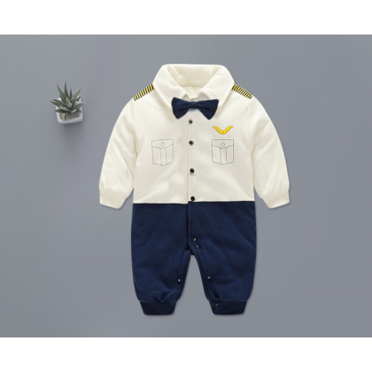 [READY STOCK] Baby Boy Mr Pilot Romper Long sleeves