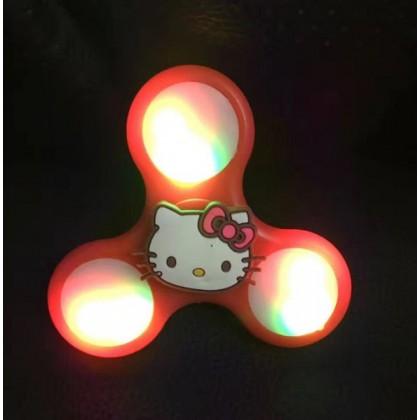 LED NEW VERSION Cartoon POKEMON, HELLO KITTY Fidget Spinner with colourful Light