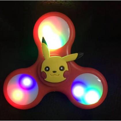 [READY STOCK] NEW VERSION Cartoon POKEMON, HELLO KITTY Fidget Spinner with colourful Light