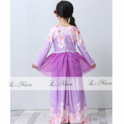 [READY STOCK] Elegance Minaz Inspired Daisy Peplum Jubah Dress (LNICE) SIZE 2-7Y