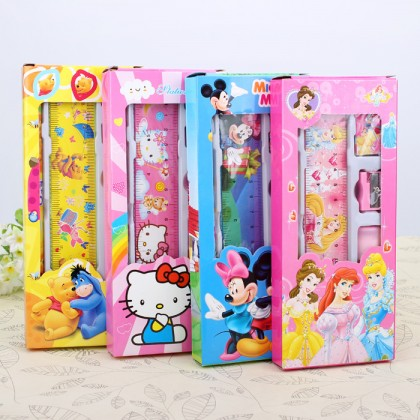 KIDS STATIONERY GIFT SET - PRINCESS , POOH, MICKEY MINNIE, HELLO KITTY
