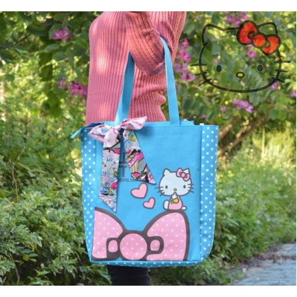 [READY STOCK] Cute Girl Hello Kitty Multiple Bag Shopping / Tuition bag / Shoulder Bag