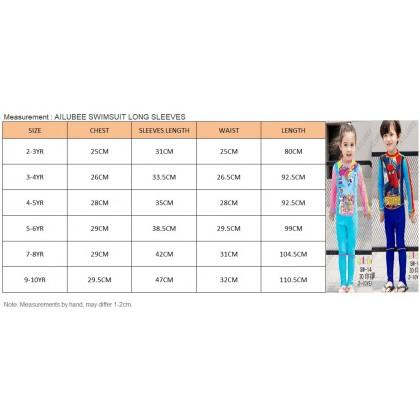 [READY STOCK] Ailubee Long Sleeves Swimming Suit Baju Renang Swimwear OMAR