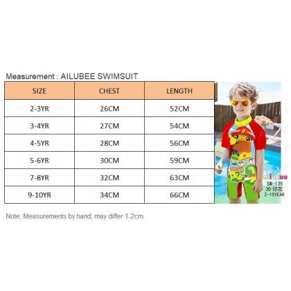 [READY STOCK] Ailubee short Sleeves Swimming Suit SW138 FROZEN ANNA ELSA