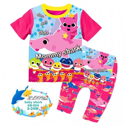 [READY STOCK] BABY SHARK Happykids Kids Pyjamas (KB004) 3M-24M