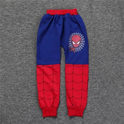 [READY STOCK] Kids Boy Costume SpiderMan Hoodie Coat + Pant Set
