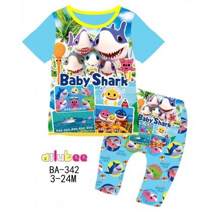 [READY STOCK] BABY SHARK Ailubee Kids Pyjamas (BA342 / 576) 3M-6M