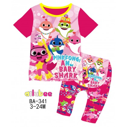 [READY STOCK] BABY SHARK Ailubee Kids Pyjamas (BA341 / 575) 3M-6M