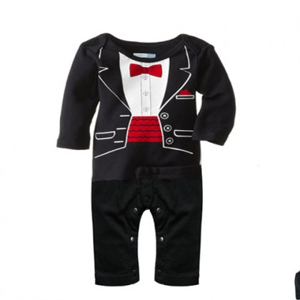 Boy Smart Romper *factory minor defect