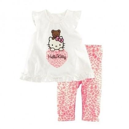 Girl Hello Kitty Set Top +Pant (PINK) 90-120 (2-5Y)