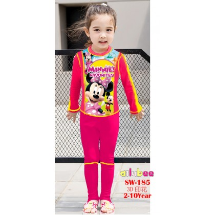 [READY STOCK] Ailubee Long Sleeves Swimming Suit SW185 MINNIE