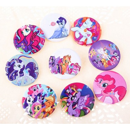 [Ready Stock] 3CM Cartoon Badge Brooch - My Little Pony