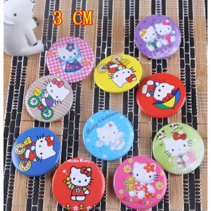 [Ready Stock] 3CM Cartoon Badge Brooch - HELLO KITTY