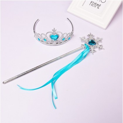 [READY STOCK] Princess Crown Set 2in1_Blue,Pink,Purple