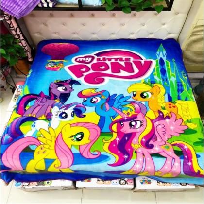 [READY STOCK] My Little Pony Coral Fleece Blanket Bigger Size 1.5x2M