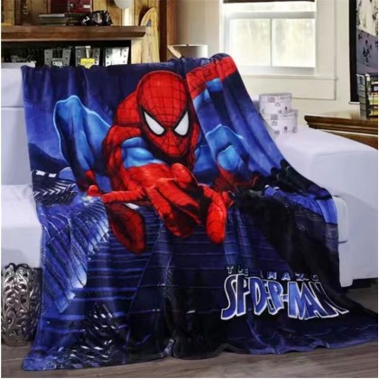 [READY STOCK] Spiderman Coral Super Soft Fleece Blanket Bigger Size 1.5x2M