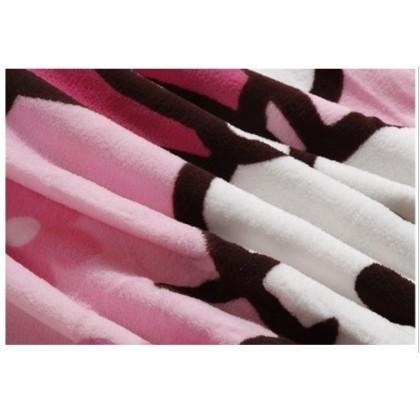 [READY STOCK] HELLO KITTY Coral Fleece Blanket Selimut Bigger Size 1.5x2M