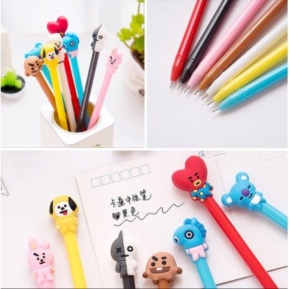 KPOP BTS BT21 Cartoon Black ink Gel Pen