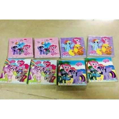 27x20.5CM (L) Stickers Coloring Colouring Books Buku Mewarna