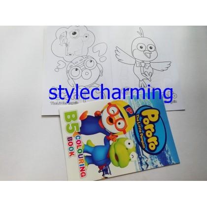 Colouring Book A5 , B5 My little Pony, Pororo, Frozen Elsa Anna, Spiderman