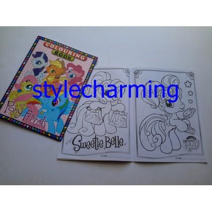 Colouring Book B5 My little Pony, Frozen Elsa Anna, Hello Kitty, Mickey, Cars