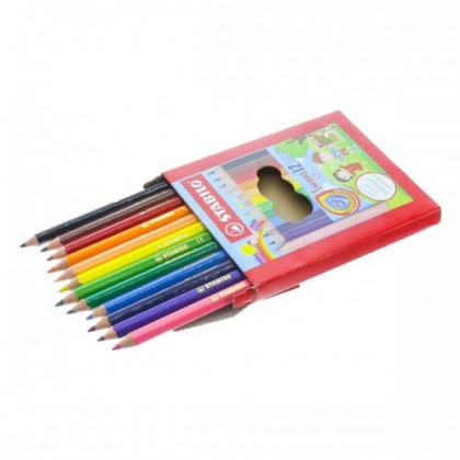 STABILO SWANS COLOURED PENCILS - 12 SHORT