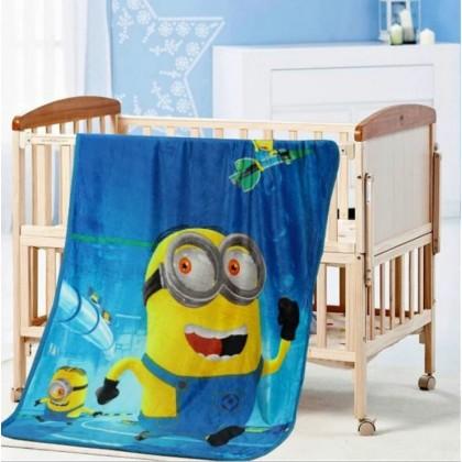 [100x140CM] Kid Soft Fabric Coral Fleece Blanket Selimut Budak Lembut Gebu