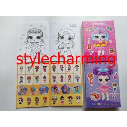 10.5CM X 14CM LOL Sticker Coloring Colouring Books Buku Mewarna