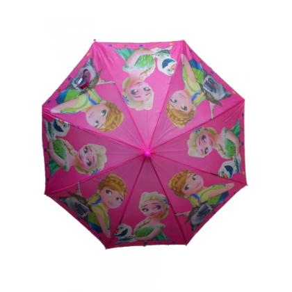 Kids Cartoon Long Umbrella Frozen Elsa Anna Payung Budak