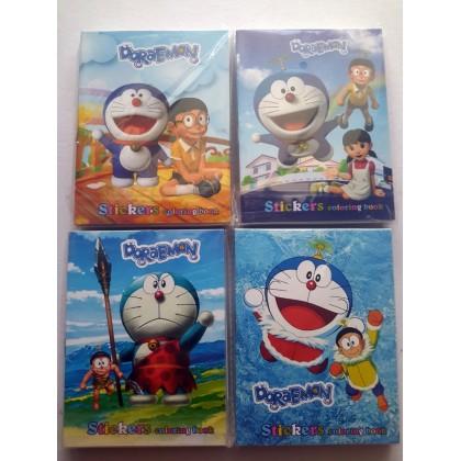 10.5CM X 14CM (S) Frozen Anna Elsa Pony Hello kitty Sofia Spiderman Ultraman Barbie Doraemon Paw Patrol Peppa Pig Sticker Coloring Colouring Books Buku Mewarna