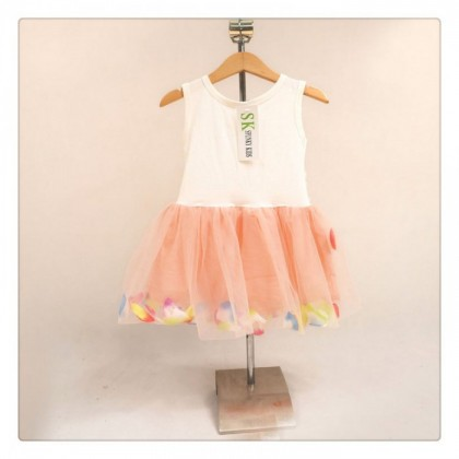 Girl Dress 77019 (Peach)