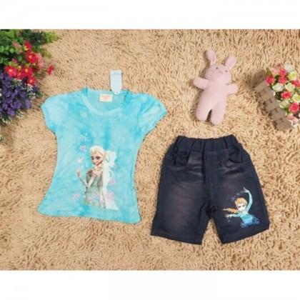 Frozen Girl Set ( Top + Pant)