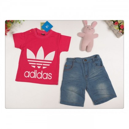 Girl Set Adidas (Top + Denim Jean Pant)