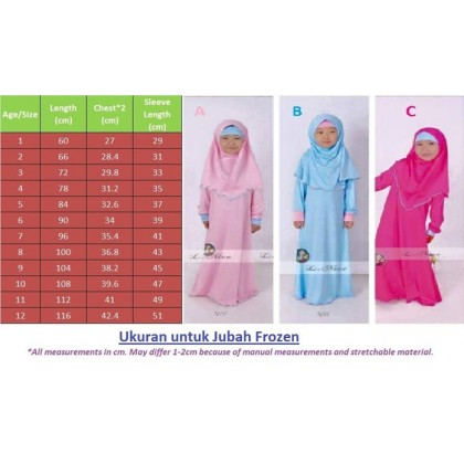 Frozen Jubah Dress - Blue