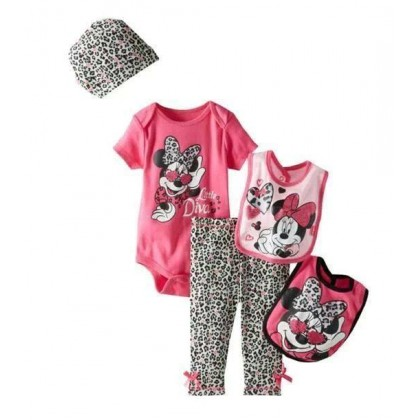 Minnie Little Diva Baby Set 4in1 Top+Pant+Bibs S0637P